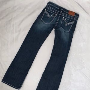 Vigoss collection Fit Bootcut Jeans size 5 bling